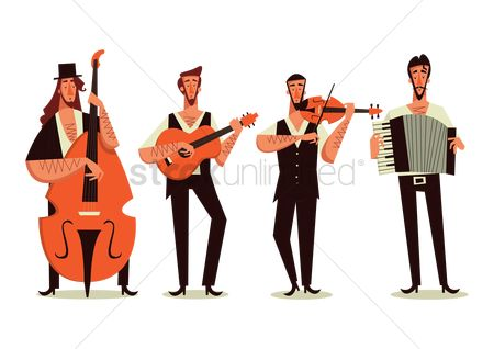 Musicals : Group of men playing music