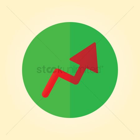 Increase : Growth arrow icon