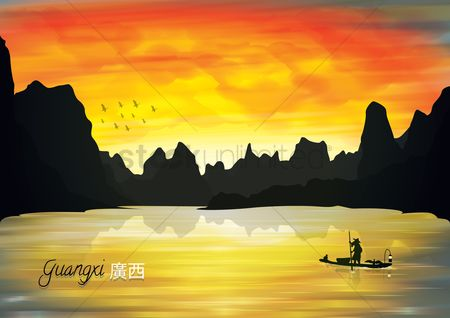 Tourist attraction : Guangxi backgroung