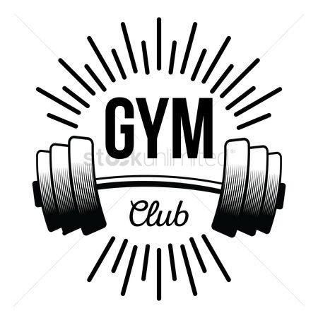 Dumb bell : Gym club label
