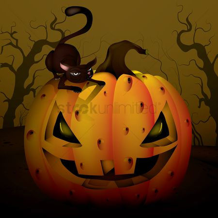 Jack o lantern : Halloween design background