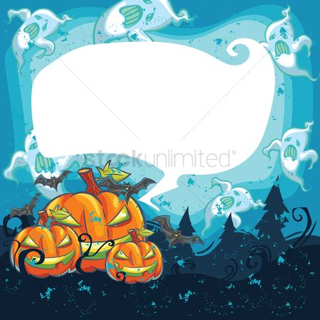 Traditions : Halloween design with copyspace