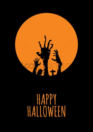 Oct : Halloween greeting design