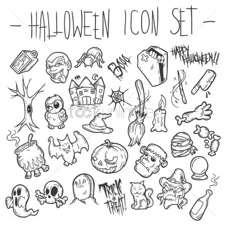 Head : Halloween icon set