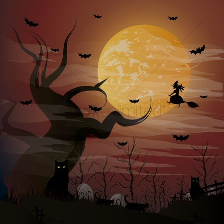 Moon : Halloween night