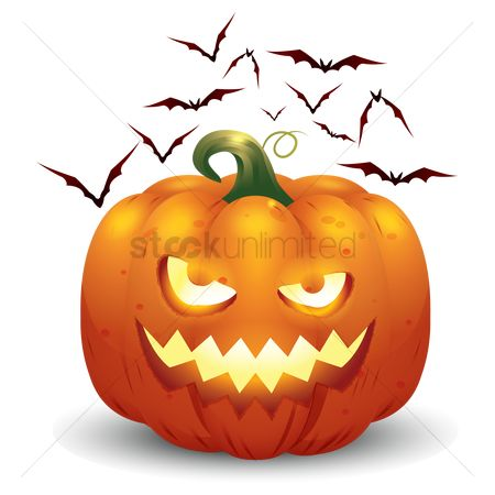 Jack : Halloween pumpkin and bats