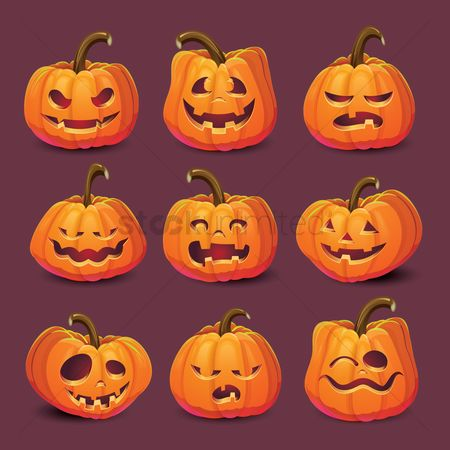 Oct : Halloween pumpkin carvings