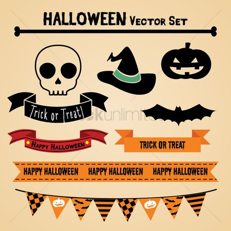 Party : Halloween vector set
