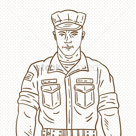 Soldiers : Hand drawn soldier