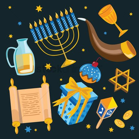 Traditions : Hanukkah concept
