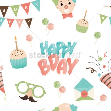 Confectionery : Happy birthday background