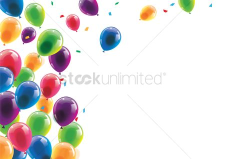 Party : Happy birthday with balloons