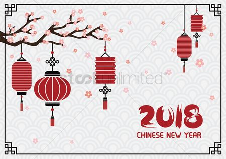 2078897 chinese border happy chinese new year 2018