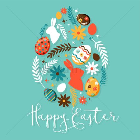 Festival : Happy easter design