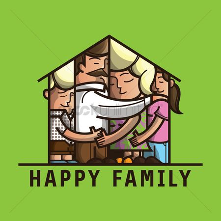 Kids : Happy family card