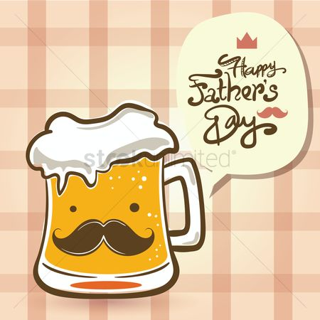 Beer mug : Happy father s day card
