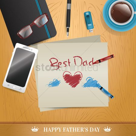 Crayons : Happy father s day design