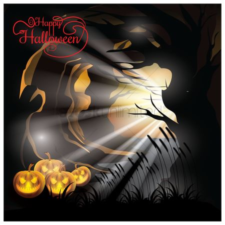 Jack o lantern : Happy halloween design