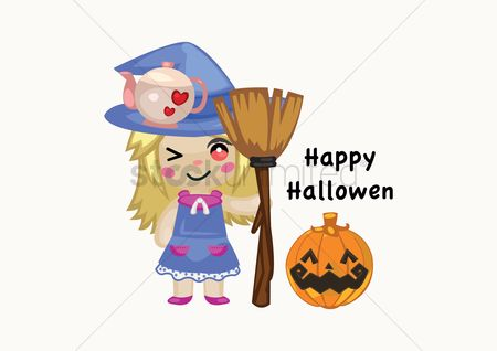 Broom : Happy halloween