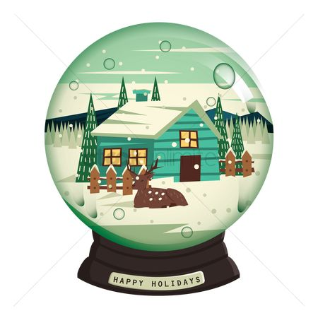 Hills : Happy holidays snow globe