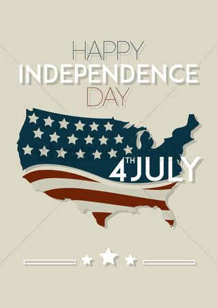 Poster : Happy independence day fourth july poster
