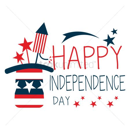 Poster : Happy independence day label