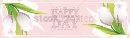 Mothers day : Happy mothers day banner