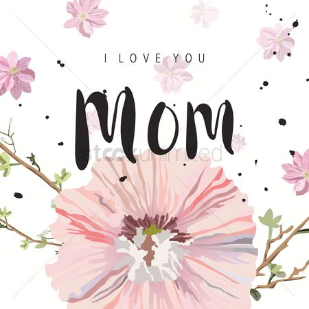 Love : Happy mothers day card
