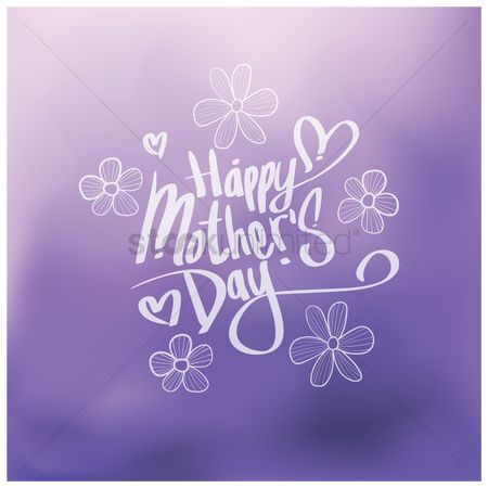 Mothers day : Happy mothers day design