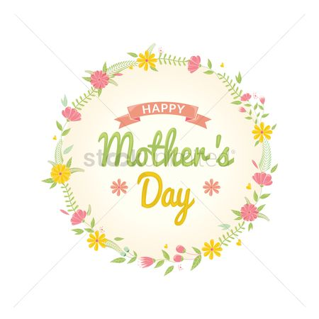 Mothers day : Happy mothers day floral design