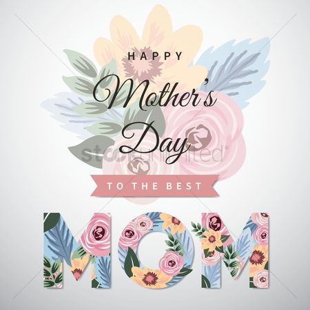 Thankful : Happy mothers day greeting design