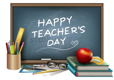 Red : Happy teacher s day design
