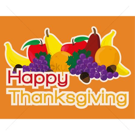 Grapes : Happy thanksgiving card