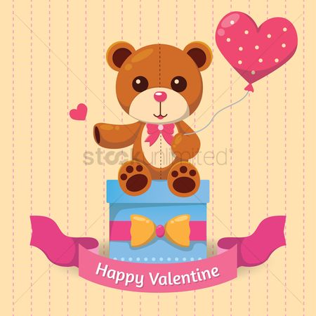 Teddybears : Happy valentine card