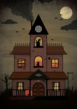 Jack o lantern : Haunted house