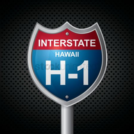 Interstates : Hawaii h-1 route sign