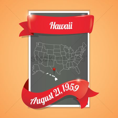 Hawaii : Hawaii state map poster