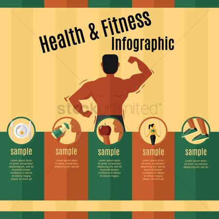 Fruit : Health and fitness infographic