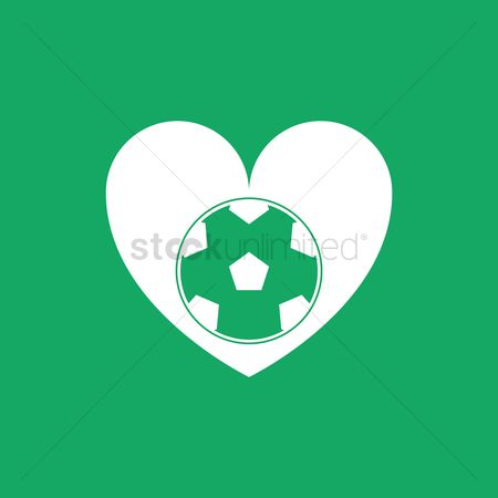 Pentagons : Heart and football