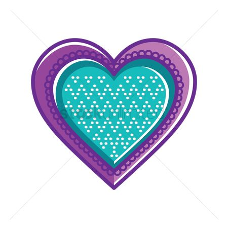 Zig zag : Heart cookie with chevron pattern