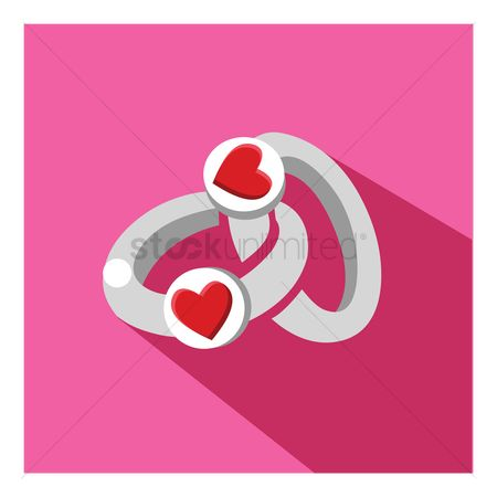 Engagements : Heart rings