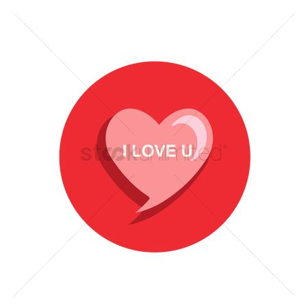 Love speech bubble : Heart speech bubble