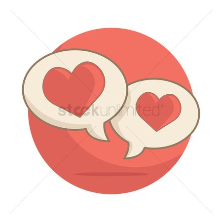 Love speech bubble : Heart speech bubbles