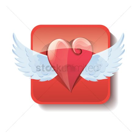 Heart : Heart with wings