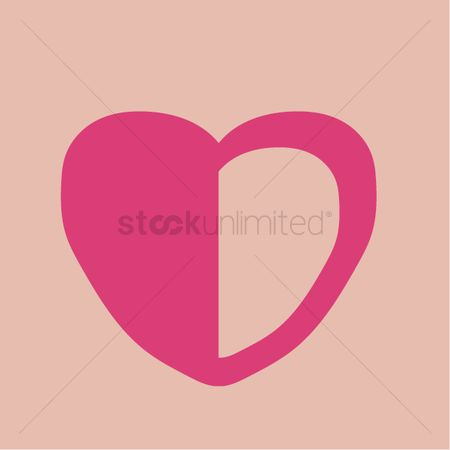 Free Half Heart Stock Vectors Stockunlimited