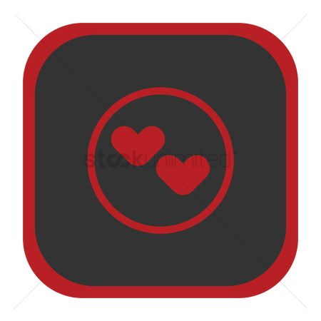 Online dating icon : Hearts icon