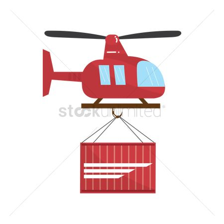 Helicopter : Helicopter delivering a container