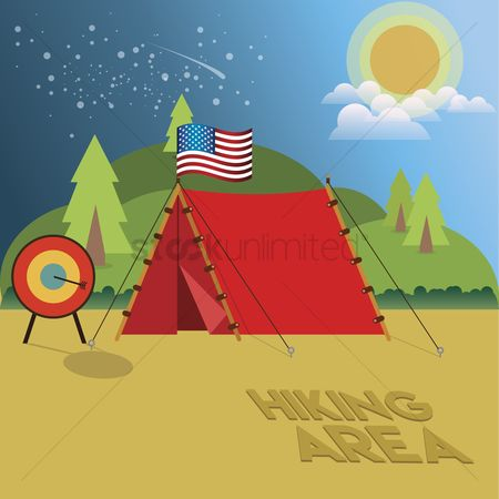 Tents : Hiking area