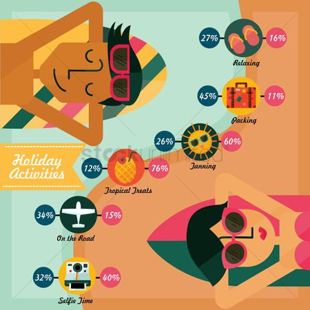 Vacation : Holiday activities infographic