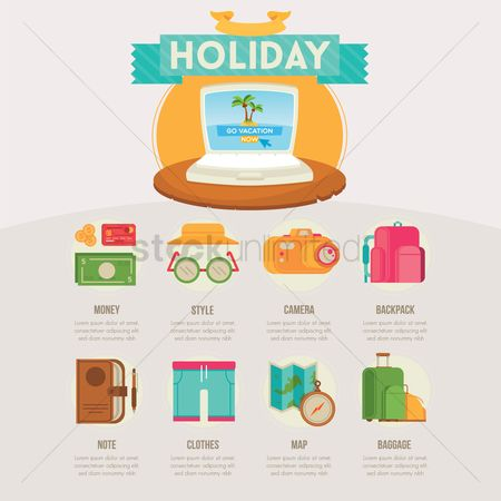 Seashore : Holiday infographic